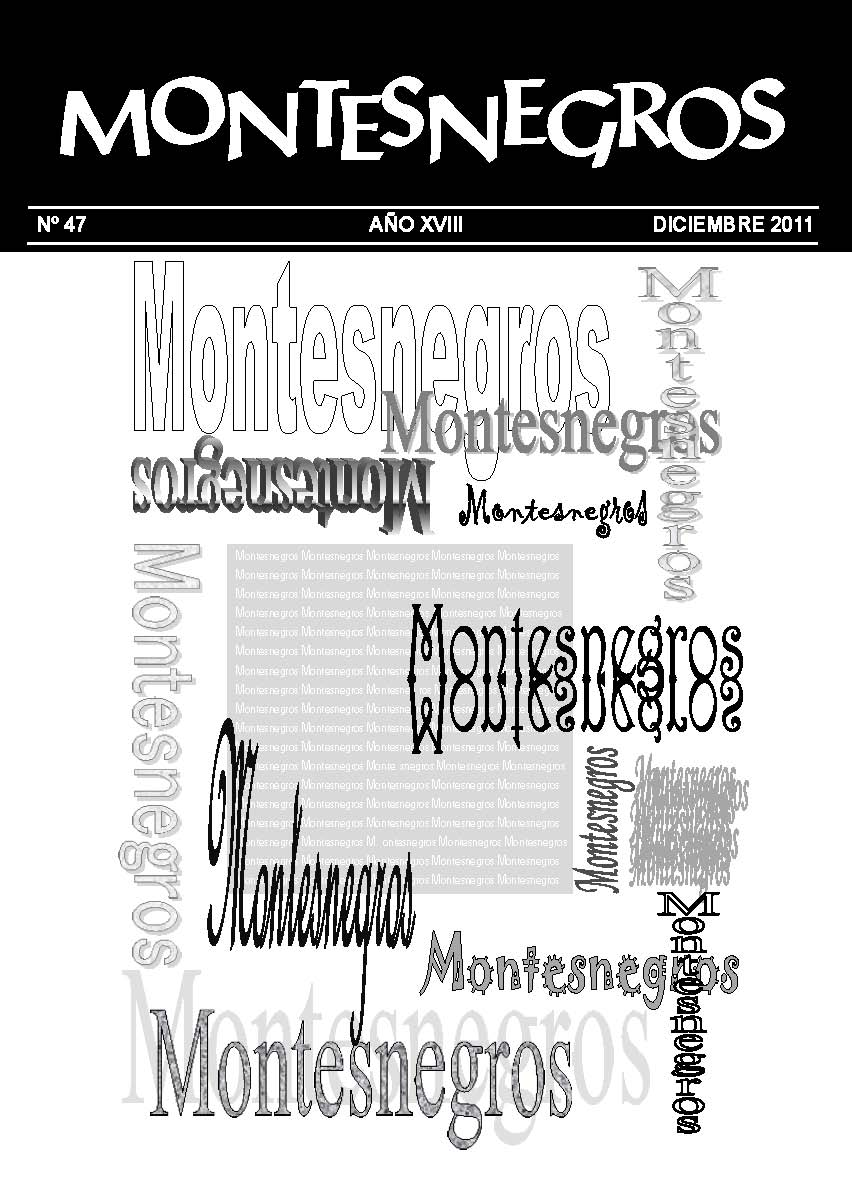 Portada del número 47 de la revista Montesnegros